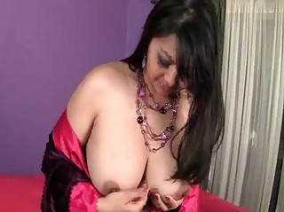 Mika Tan on her knees sucks hard black Sausage