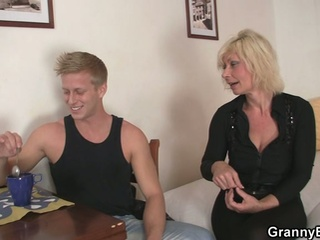 Old golden-haired is doggy-style drilled !