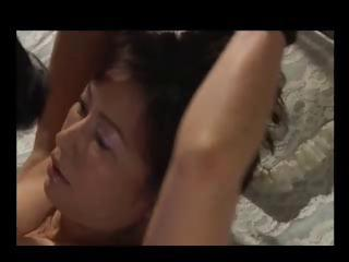 Lewd Asian MILF gets her hairy pussy fucked till she screams