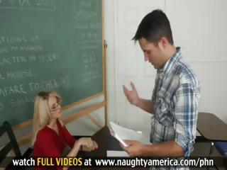 Drama Teacher teaches Student How To Kiss, Fuck and Give Facials