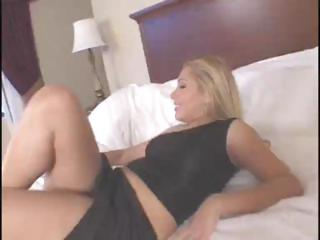 Blonde Latina babe Sasha Sans sucks and fucks a large black dick