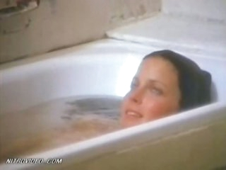 Exquisite Retro Beauty Bo Derek Flashes Her Juicy Jugs In The Baths