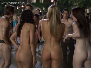 Angel Lewis, Candace Kroslak & Friend Get Naked