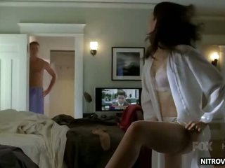 Sexy Carly Pope Wearing Super Hawt White Lingerie