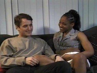 White chap fucking black gal