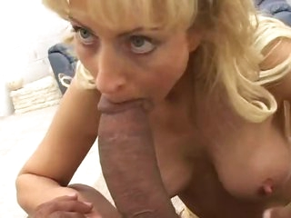 Giant black cock fucks this nasty mommy