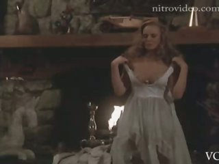 Naturally Busty Retro Blonde Jennifer Cooke Strips In a Sexy Scene