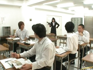 Sexually excited Teacher Natsumi Kitahara Gets Gangbanged by her Students