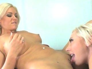 Trashy Skyler Price licks out this sluts moist slit