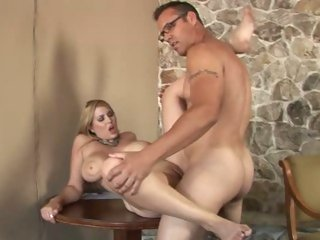 Breasty Athena Pleasures gets her snatch pulverized