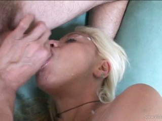 Vicious Blonde MILF Gets Screwed and Then Swallows Hot Jizz