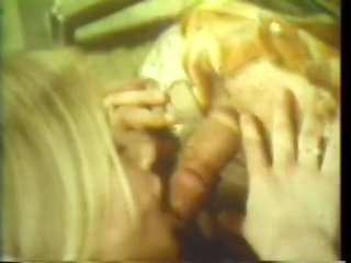 Golden-haired Couple Getting Off In Hawt Retro Vid