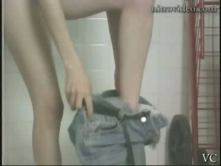 Cute Andrea Biro Having a Shower