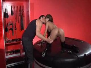 Wench in his dungeon drilled hard