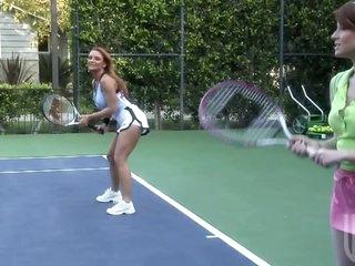 Blonde MILF Janet Mason Fucks The Tennis Instructor On The Court