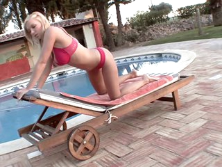 Beautiful Naturally Busty Blonde Karolina King Masturbating Outdoors