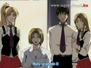 Hentai school girls team-fucked