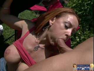 Nympho MILF Janet Mason gives a clinic in sucking biggest cock