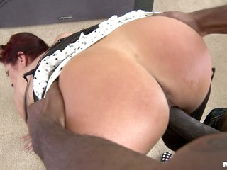 Redhead milf Tiffany Mynx takes huge black penis
