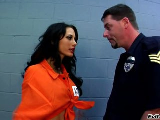 Mya Nicole on a crap-house ass lick by the jail guard