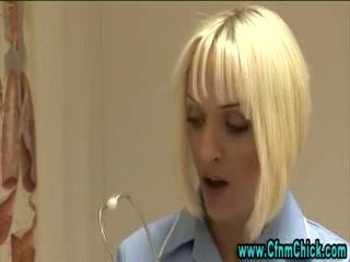 Busty cfnm nurse gets nasty