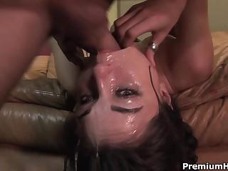 Sasha Grey gets a  mouthful of cock