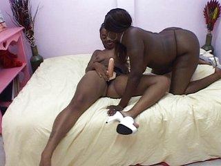 Black beauties enjoying their pussies
