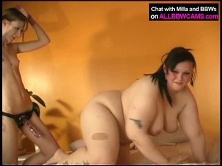 Hot bbw loves slamming some nice hot dildo