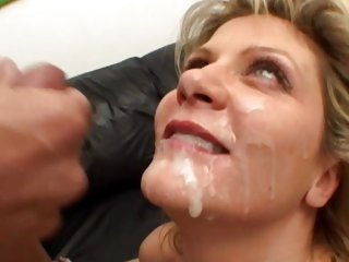 Ginger Lynn gets her face saturated with hot cum
