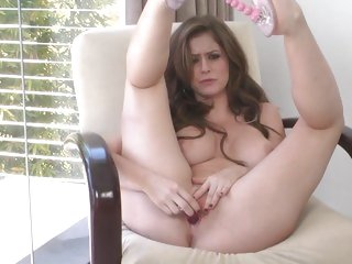 Hottie Emily Addison loves toy fucking her moist pussy