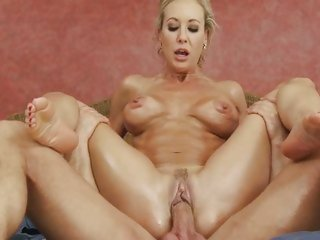 Brandi Love bounces her moist pussy in a stiff dick