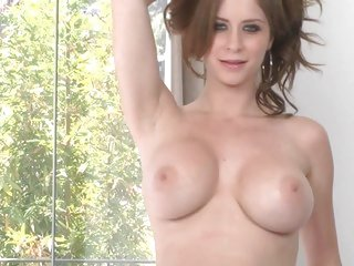 Emily Addison exposes her succulent round tits