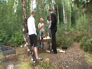 Students Outdoor Sex Party