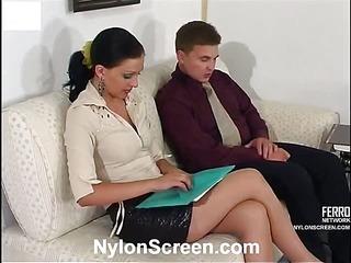 Laura&Peter nasty nylon movie