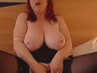 Red fatso dildos her box
