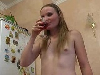 Slender drunk slut
