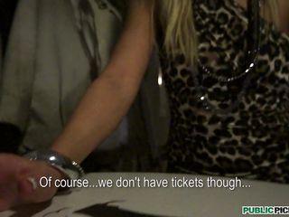 slutty blonde milf undressed for cash
