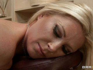 hot blonde getting her ass massaged