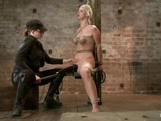 blonde slave and a skilled mistress