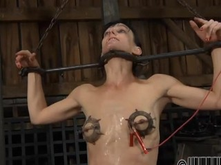 Sexy chick gets her smooth arse whipped during punishment