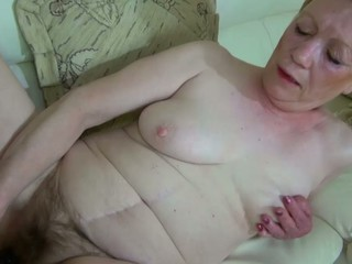 Old Older with large sex-toy masturbate