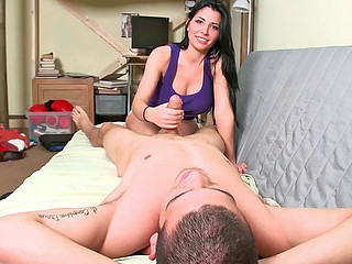 Rebeca Linares performing incredible fellatio on some gifted bloke