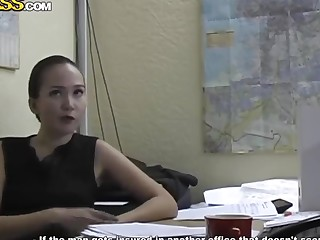 Loved secretary Natasha gets naughty in office