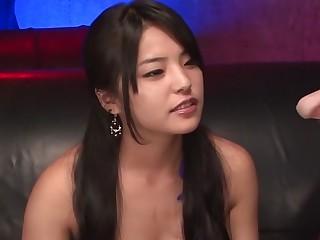 Exotic Japanese model Eririka Katagiri in Horny JAV uncensored Handjobs clip