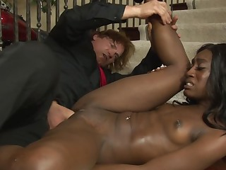 A black chick with a sexy as is getting her pussy licked a lot