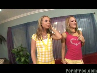 Blonde hannah west and friend engulf and fuck and get facual cumshots