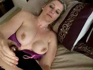 Hot busty milf tonya masturbates hard