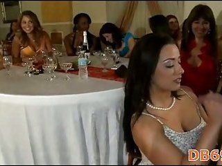 Party gals doing blow job