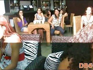 Party girls love to gulp stripper rod