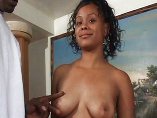 Teen ebony fucks for the money
